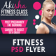 Fitness Class Flyer Template - GraphicRiver Item for Sale
