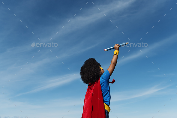 Little Boy Playing Toy Plane Concept - Stock Photo - Images