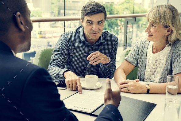 Business Discussion Talking Deal Concept - Stock Photo - Images