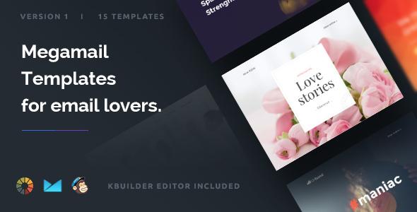 Megamail – 10 Email Templates Set + Kbuilder 1.2