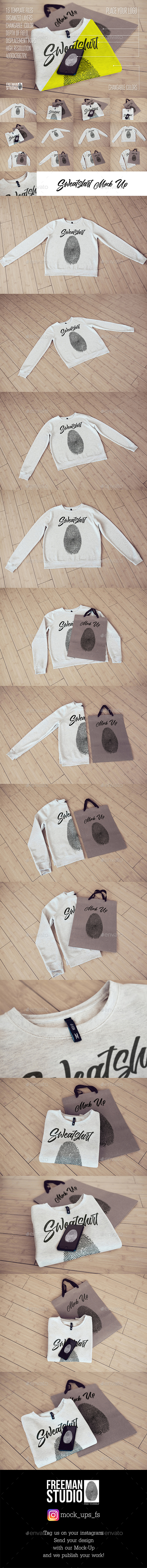 Sweatshirt Mock-Up - Product Mock-Ups Graphics