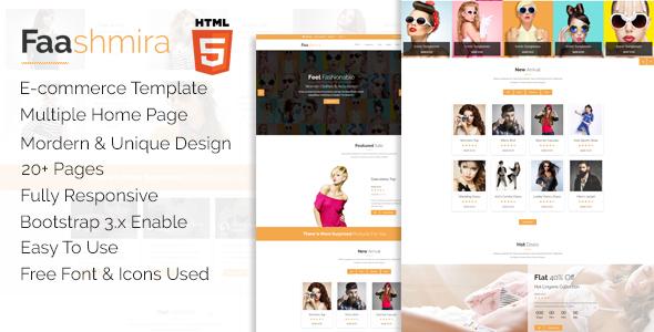 Faashmira Shop - HTML