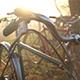 Old Bycle Handlebars at Sunrise - VideoHive Item for Sale