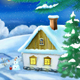 Christmas Evening in a Small Village - VideoHive Item for Sale
