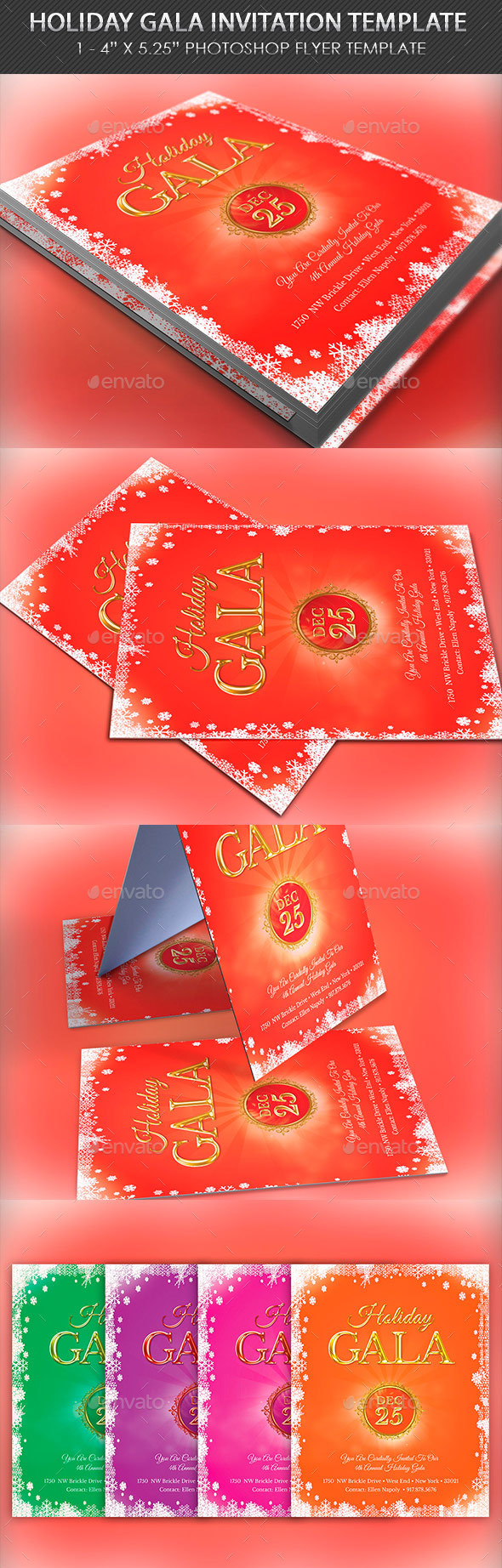Holiday Gala Invitation Template by 4cgraphic2 – Gala Invitation Template