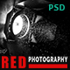 RED - One Page Photography PSD Template