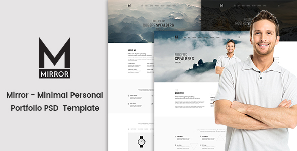 Mirror – Minimal Personal Portfolio PSD Template