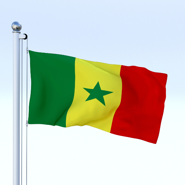 Animated Senegal Flag - 3DOcean Item for Sale