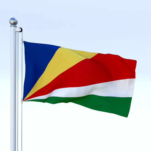 Animated Seychelles Flag - 3DOcean Item for Sale