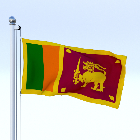 Animated Sri Lanka Flag - 3DOcean Item for Sale