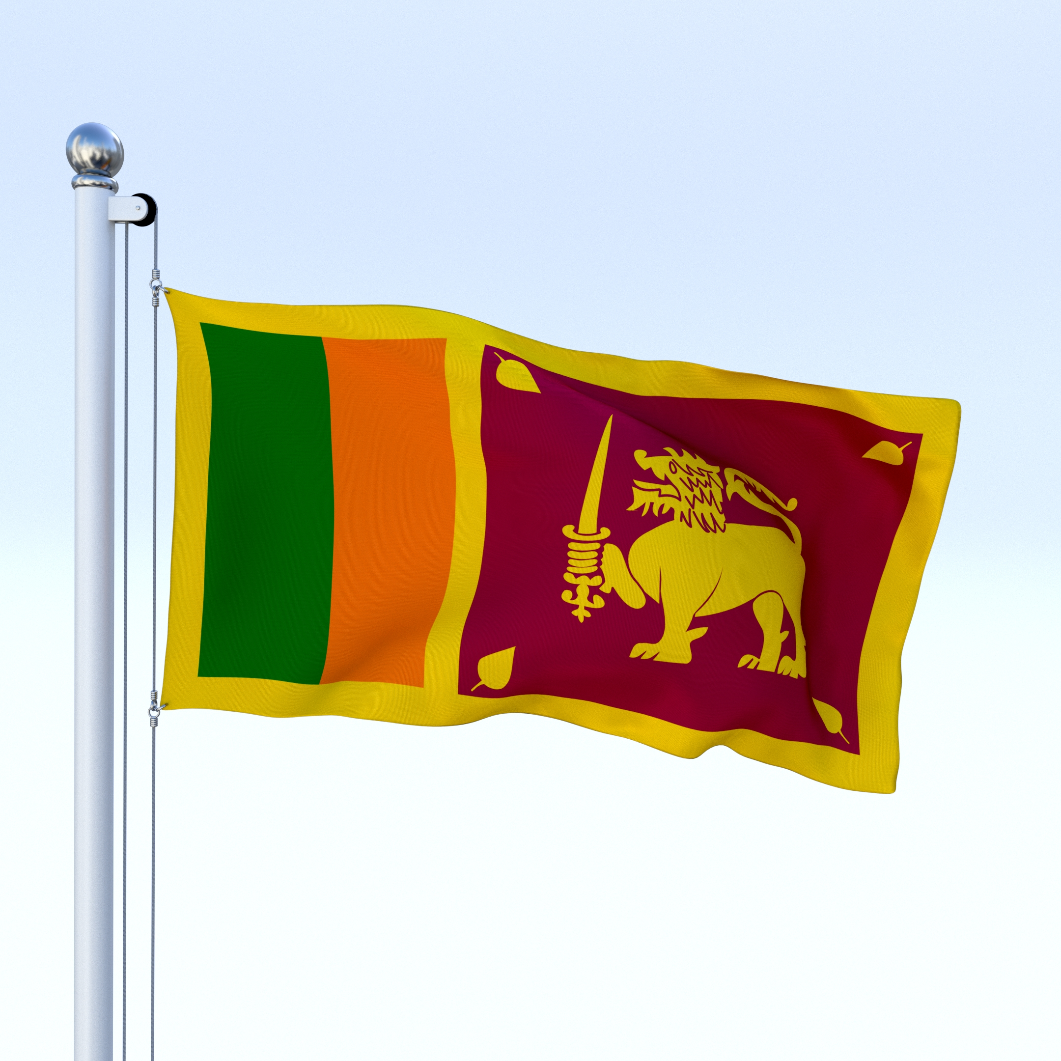 Animated Sri Lanka Flag By Dragosburian 3docean