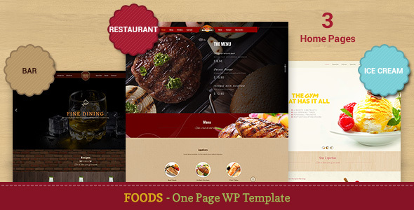 Food – Restaurant, Bar, Ice Cream WP Theme
