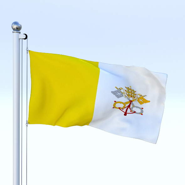 Animated Vatican City Flag - 3DOcean Item for Sale