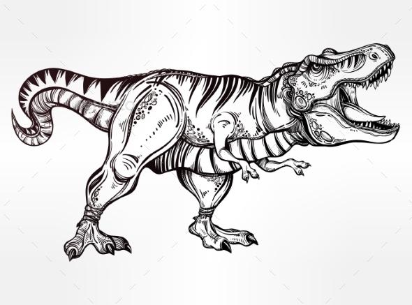 Tyrannosaurus Dinosaur Vector Illustration - Animals Characters