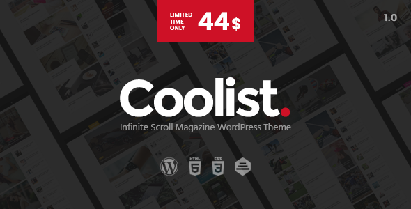 Coolist | Infinite Scroll Magazine WordPress Theme