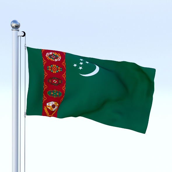 Animated Turkmenistan Flag - 3DOcean Item for Sale