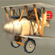 Low poly WW1 Cartoon Biplane - Albatros - 3DOcean Item for Sale