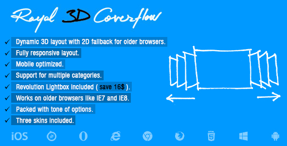 Royal 3D Coverflow nulled free download
