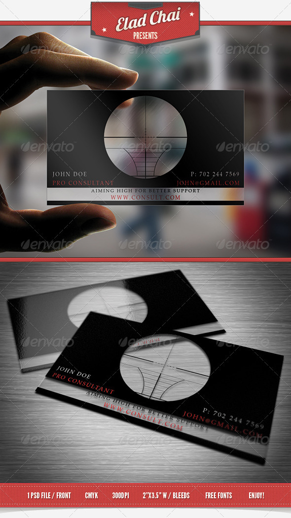Translucent Consultant Business Card - Creative Business Cards