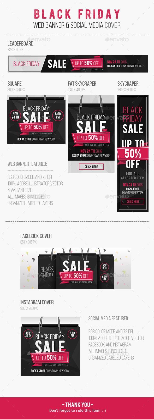 Black Friday Web Banner - Social Media Web Elements