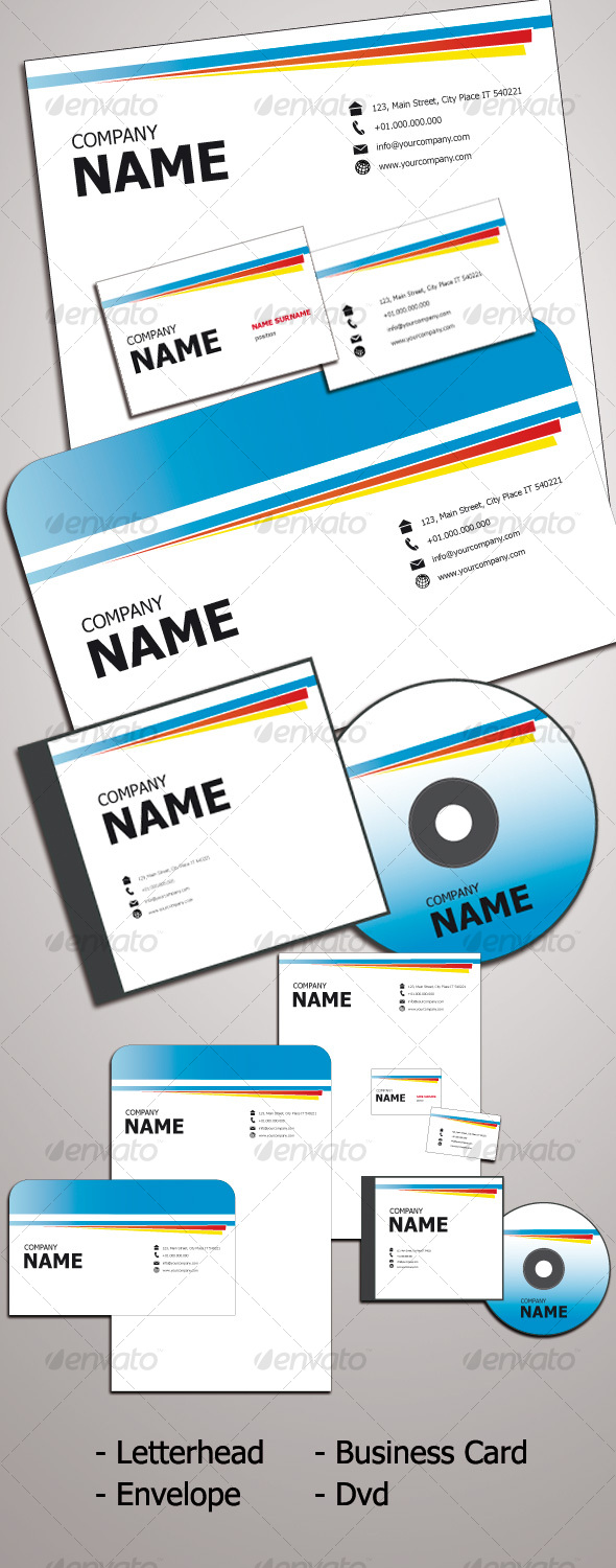EASY CLEAN Identity Kit - Stationery Print Templates