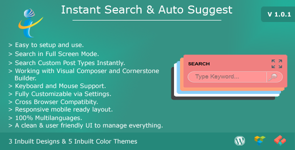 WP Instant Search & Auto Suggest - CodeCanyon Item for Sale