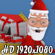 Santa Claus Sleigh Transition - VideoHive Item for Sale