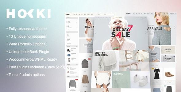 HOKI – Multi-Purpose Responsive WordPress & WooCommerce Theme