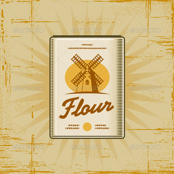 Retro Flour Pack - Food Objects