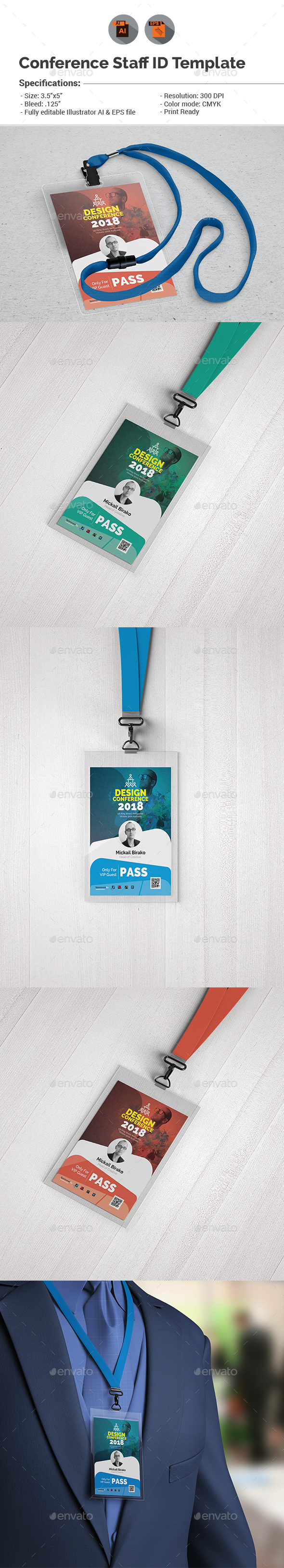 Conference VIP Pass ID Template With Regard To Conference Id Card Template
