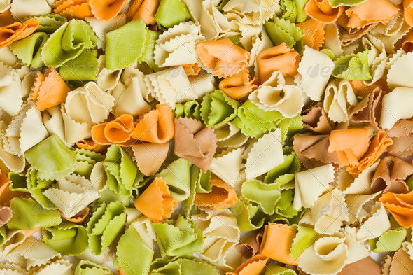 raw colored pasta - Stock Photo - Images