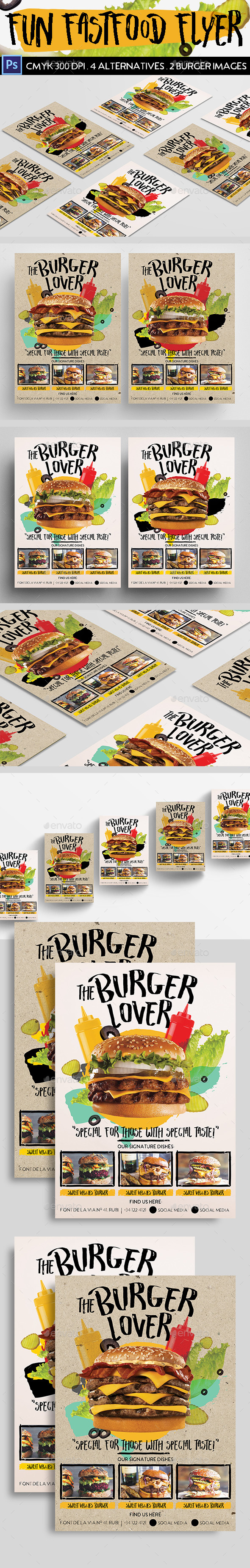 Fun Fast Food Flyer - Restaurant Flyers