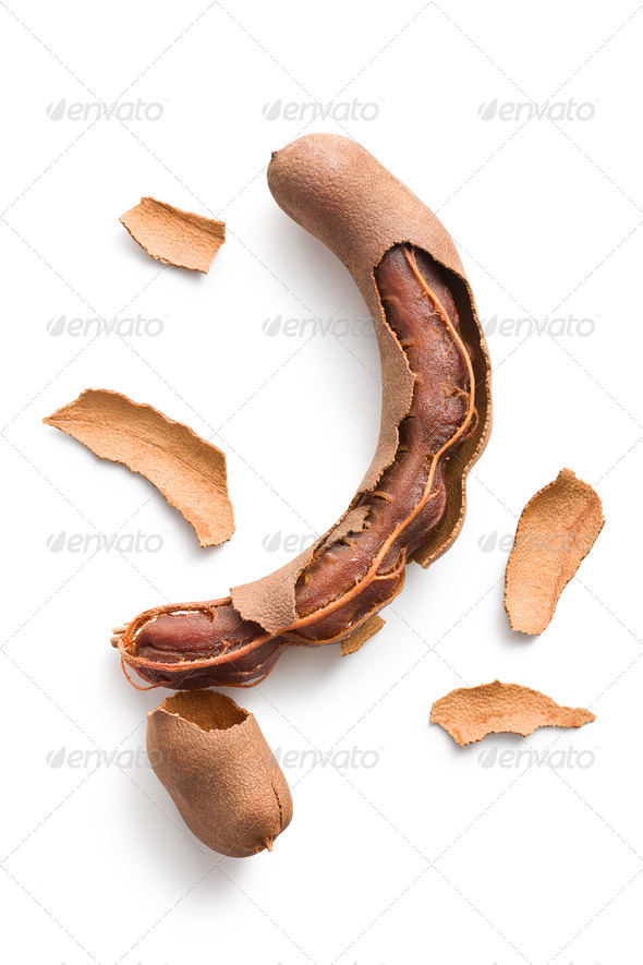 tamarind isolated on white background - Stock Photo - Images
