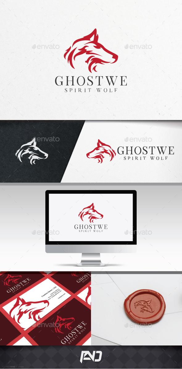 Ghost Wolf Logo Template - Animals Logo Templates