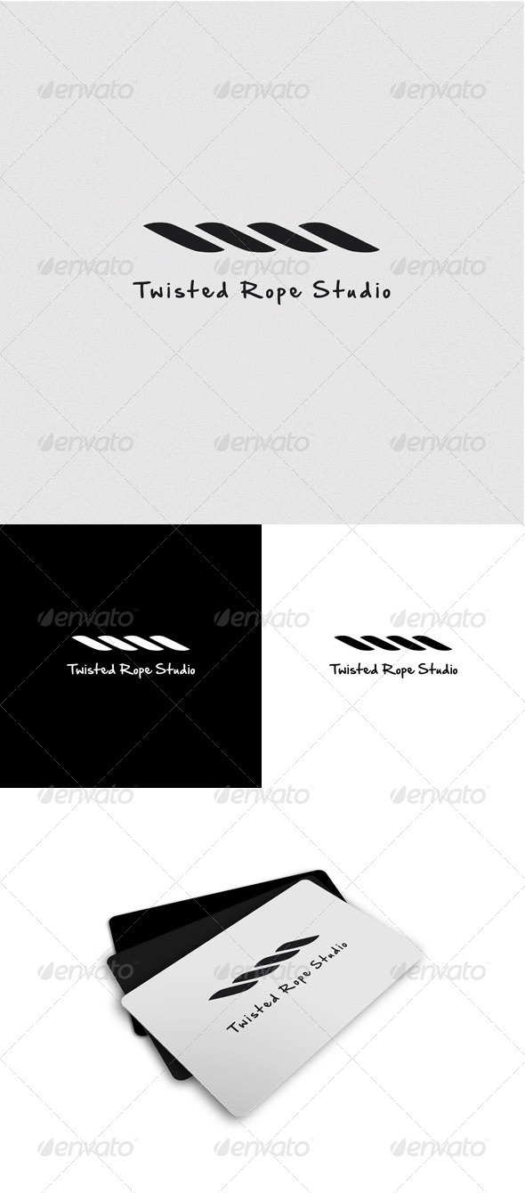 Twisted Rope Studio Logo - Nature Logo Templates