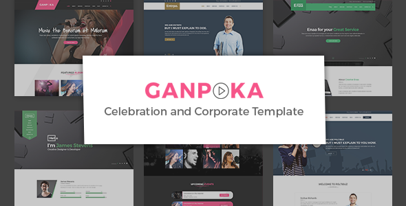 Ganpoka - Celebration and Corporate PSD Template - Entertainment PSD Templates