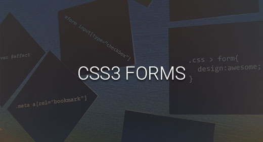 CSS3 FORMS