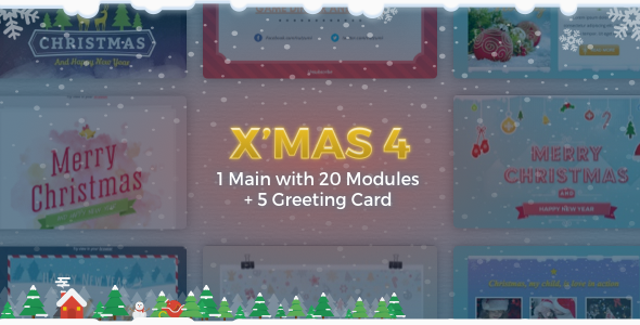 X'mas 4 | Holiday Template + Greeting Card