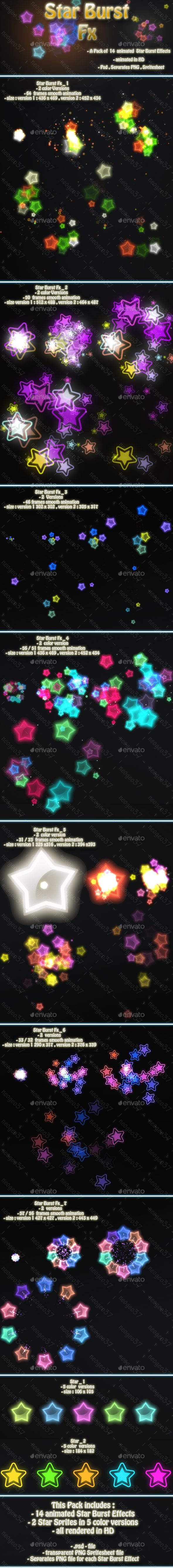 Star Burst Fx - Sprites Game Assets