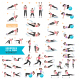 Woman Fitness Aerobic and Exercises. - GraphicRiver Item for Sale