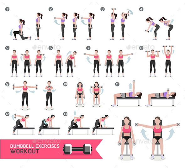 Women Fitness Aerobic and Exercises. - Sports/Activity Conceptual