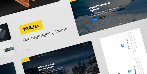 Maze Agency – One Page Agency PSD Template