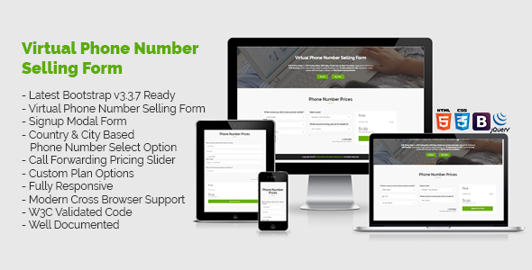 Virtual Phone Number Pricing Selling Form - CodeCanyon Item for Sale