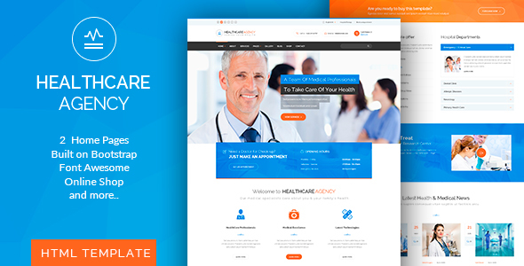 Healthcare Agency - Health & Medical HTML - Business Corporate