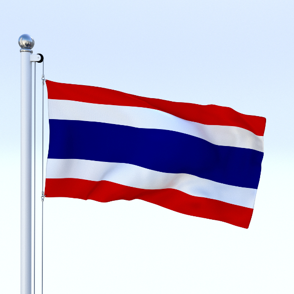 Animated Thailand Flag - 3DOcean Item for Sale