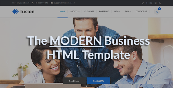 Fusion - A Modern Business HTML Template