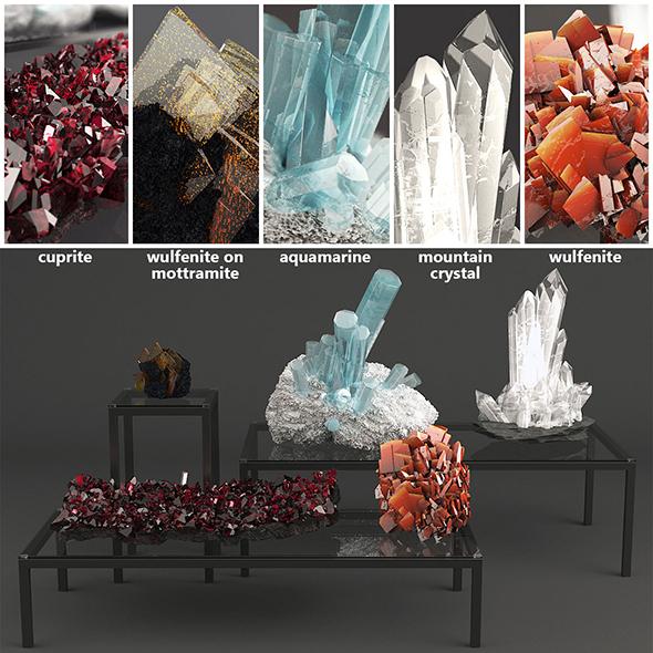 Set of Crystals - 3DOcean Item for Sale