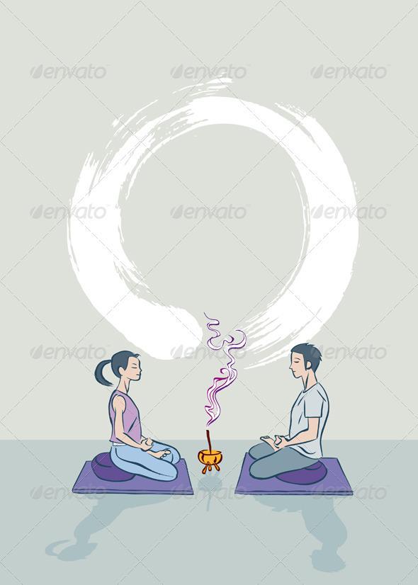 Zen Meditation - People Characters