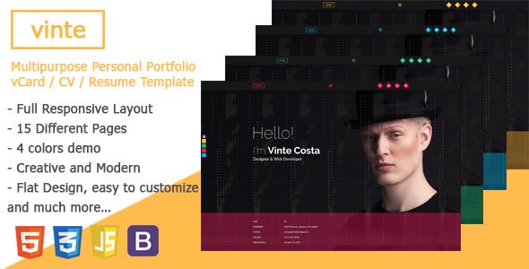 Vinte – Personal / CV / Resume HTML Template