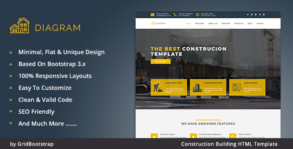 Diagram – Architecture Building Agency Template